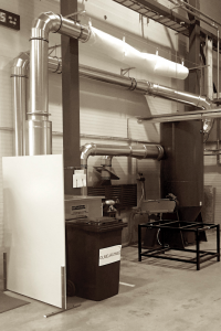 Industrial dust filter systems